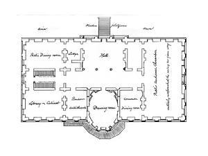 Hoban's Original Plans for the White House, 18th Century