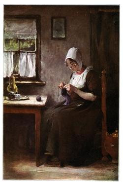 Knitting Fisherwoman, 1901 by Hobbe Smith