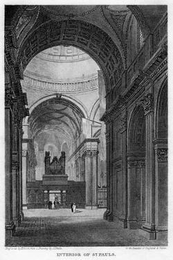 Interior of St Paul's Cathedral, City of London, 1816 by Hobson