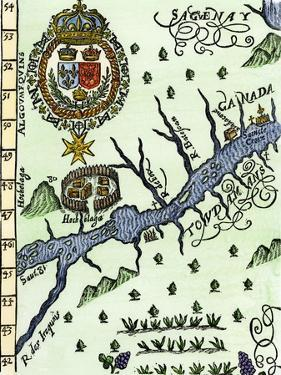 Hochelaga, Site of Montreal, Shown as a Native American Village in Lescarbot's Map, c.1609