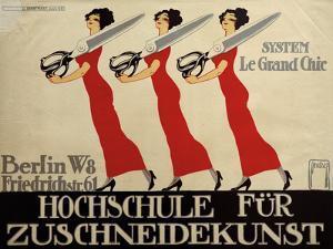 Hochschule Für Zuschneidekunst, College for Tailor Advertisement, Berlin, Germany