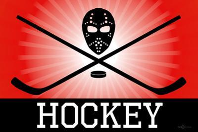 Hockey Red Sports Poster Print
