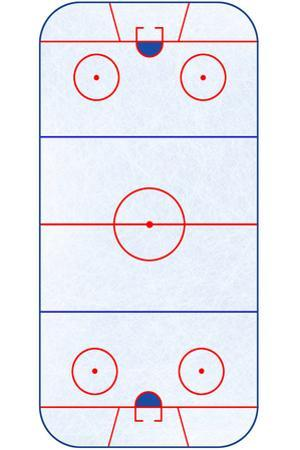 Hockey Rink Layout Sports Poster