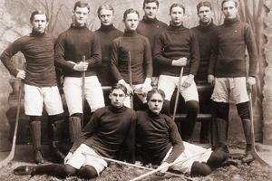 Hockey Team Posing Together