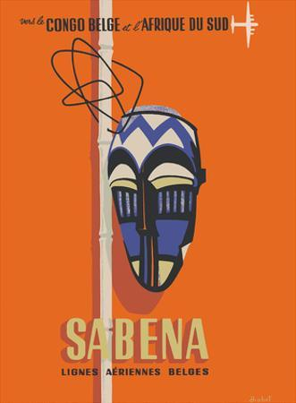 Congo - South Africa - Sabena, Lignes Aeriennes Belges (Belgian Airlines) by Hohet