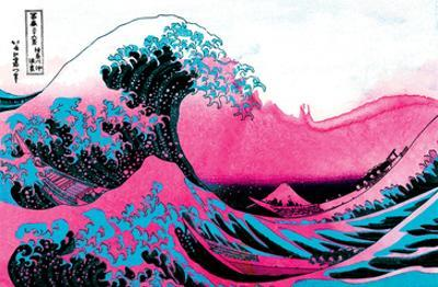 Hokusai - Pink Wave II