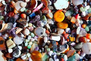 Agate Stone with Many Colorful Mineral Quartz Rock Crystal by holbox