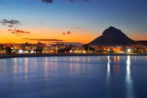 Alicante Javea Sunset Beach Cityscape Night View by holbox