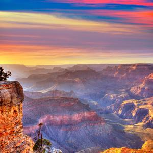 Arizona Sunset Grand Canyon National Park Yavapai Point USA by holbox