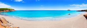 Cala Nova Beach in Ibiza Island Panoramic with Turquoise Water in Balearic Mediterranean by holbox
