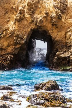 California Pfeiffer Beach in Big Sur State Park Rocks and Waves by holbox