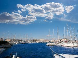 Denia Alicante Marina Boats in Blue Mediterranean Spain by holbox