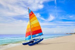 Florida Fort Myers Beach Catamaran Sailboat in USA by holbox
