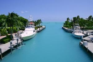 Florida Keys Fishing Boats in Turquoise Waterway by holbox