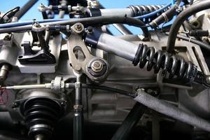 Formula One Car Engine Detail by holbox