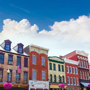Georgetown Historical District Townhouses Facades Washington DC in USA by holbox