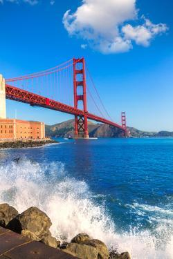 Golden Gate Bridge San Francisco from Presidio in California USA by holbox