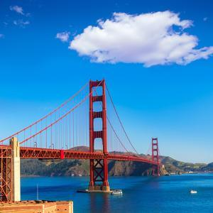 Golden Gate Bridge San Francisco from Presidio in California USA by holbox