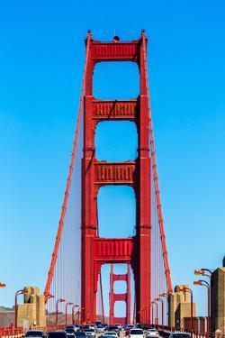 Golden Gate Bridge Traffic in San Francisco California USA by holbox