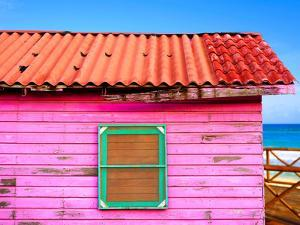 Mahahual Caribbean Pink Wood Painted Wall Textures in Costa Maya Mexico by holbox