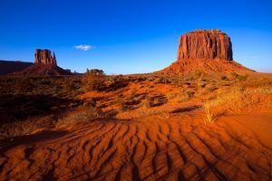 Monument Valley West Mitten And Merrick Butte Desert Sand Dunes Utah by holbox