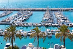 Moraira Alicante Marina Nautic Port High Angle View in Mediterranean by holbox