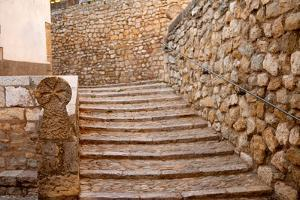 Morella in Maestrazgo Castellon Village Masonry Stairs at Spain by holbox
