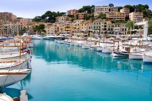 Puerto De Soller Port of Mallorca with Llaut Boats in Balearic Island by holbox