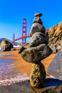 San Francisco Golden Gate Bridge from Marshall Beach in California USA by holbox