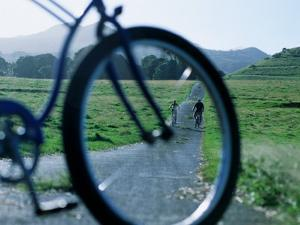 Cyclists Seen Through Bicycle, Hana, USA by Holger Leue