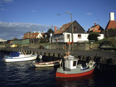 Docked Fishing Boats, Gudhjem, Denmark by Holger Leue