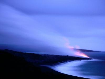Lava Flow at Dusk, Volcanoes National Park, Hawaii, Hawaii by Holger Leue