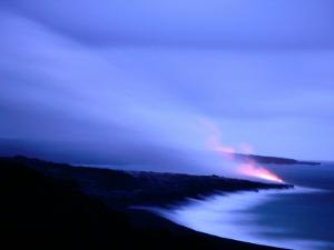 Lava Flow at Dusk, Volcanoes National Park, Hawaii, Hawaii by Holger Leue