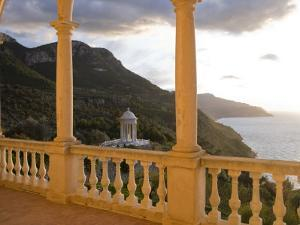 Terrace of Son Marroig Mansion and Gazebo at Sunset by Holger Leue