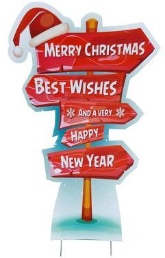 Holiday Directional Sign Outdoor