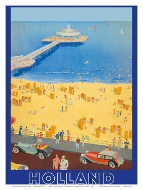 Holland Beach, Scheveningen Pier c.1950s