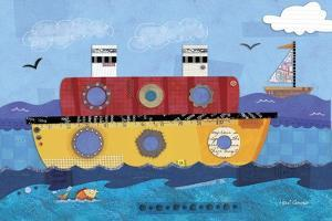 Boat Collage by Holli Conger