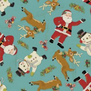 Retro Christmas half drop 1 by Holli Conger