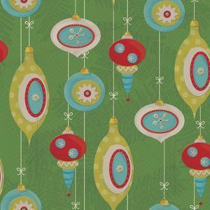 Retro Christmas half drop 2 by Holli Conger
