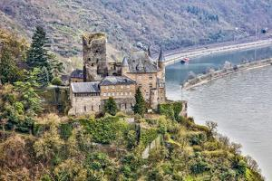 Germany, Rhineland-Palatinate, St. Goarshausen, Cat Castle by Hollice Looney