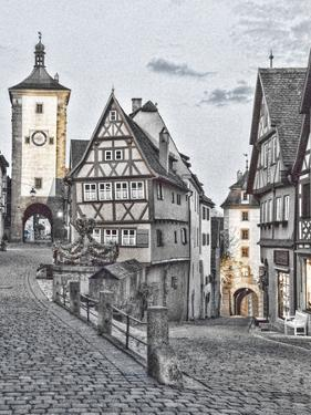 Germany, Rothenberg ob der Tauber, Ploenlein Triangular Place by Hollice Looney