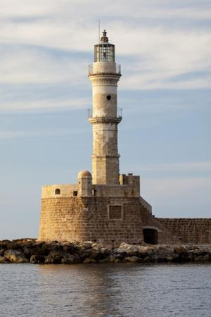 Greece, Crete, Chania. Venetian Lighthouse at the Old Harbor by Hollice Looney