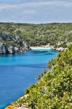 Spain, Menorca. Cliffside view. by Hollice Looney