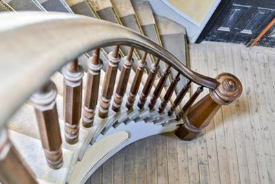 USA, Montana, Bannack State Park, Staircase by Hollice Looney