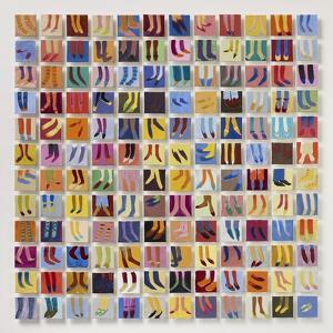 144 Old Masters' Feet, 2016 by Holly Frean