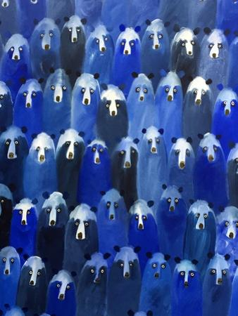 Theatre Detail (Blue Bears at the Theatre), 2016 by Holly Frean