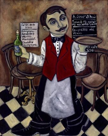French Waiter III by Holly Wojahn