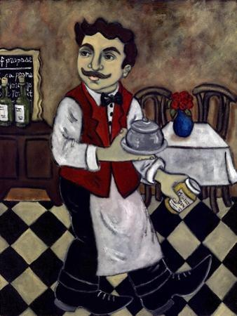 French Waiter IV by Holly Wojahn