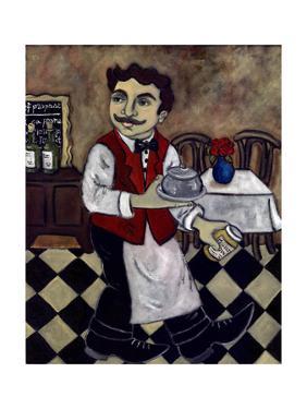 French Waiter IV by Holly Wojahn
