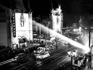 Grauman's Chinese Theatre Hollywood Blvd. 1944 by Hollywood Historic Photos